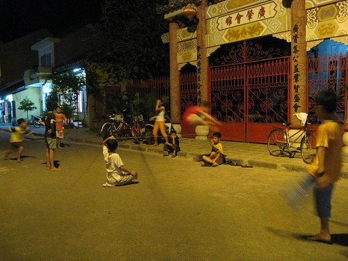 Street game in Hoi An