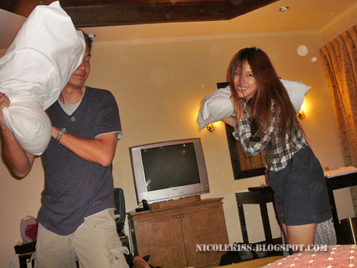 pillow fight with gerald