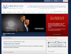La web Change.gov
