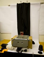 Cheers - setup (purplemattfish) Tags: canon studio desk flash gear 5d setup makeshift strobe strobist 580exii ef1635mmf28 purplemattfish
