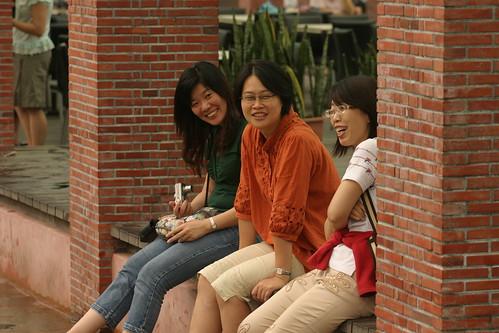 你拍攝的 湯圍溝公園:楷家的三個美人。