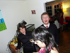 jennie, doris, sean:yaaaaay! (stephiblu) Tags: november autumn party guests fun nj montclair 2008 autumnball autumnball2008 tichenortichenors