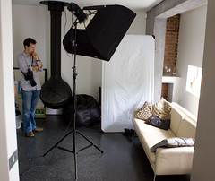 Cecile Setup (Photosmudger) Tags: lighting london fashion studio flash location setup behindthescenes softbox strobe bowens strobist