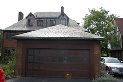 Garage (Christopher Busta-Peck) Tags: 1920s roof ohio house home exterior garage tudor driveway slate ourhouse roofing 1926 shakerheights tudorrevival vansweringen