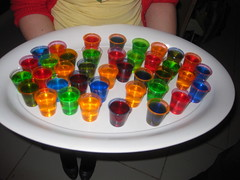 Colourful Jelly Shots