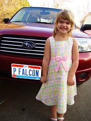 Lorelei and license plate