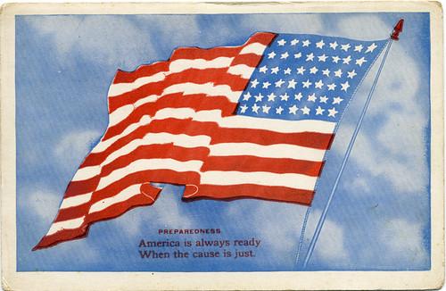 Postcard: Flag, ca. WWII