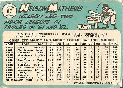 Nelson Mathews (back) by you.