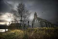 Church at Loch Achray (gms) Tags: uk winter tree church grass scotland gloomy loch trossachs lochachray achray queenelizabethforestpark
