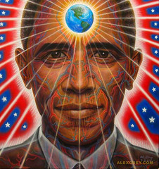 Alex Grey's Obama - Anatomy of a World Leader