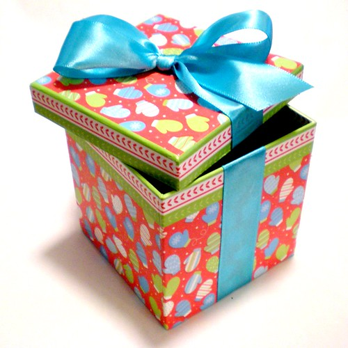 The adventures of pam frank how to dress up a pre wrapped gift box dressed up gift box originally uploaded by passitonplates negle Image collections