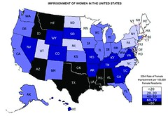 Women's Incarceration Rates, 2004