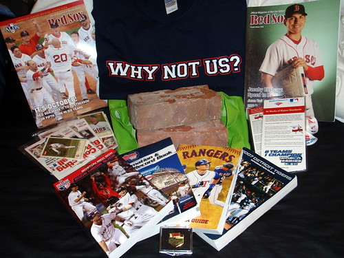 My grab bag from the Great Fenway Park Yard Sale