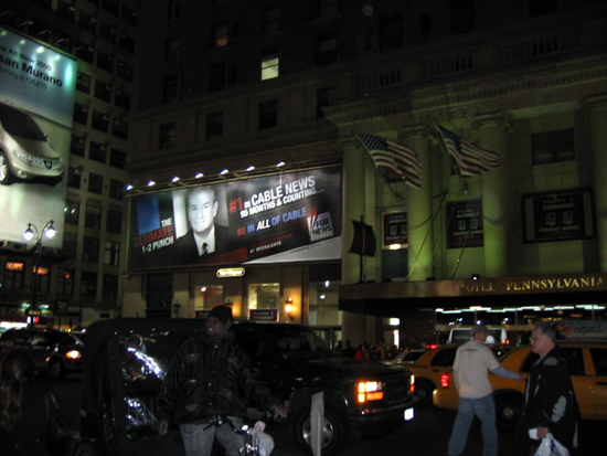 O'Reilly Billboard - Outside Penn Station (Click to enlarge)