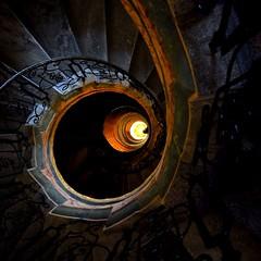 Melk Monastery: Downstairs (kubse) Tags: light art history church stairs dark austria monastery baroque melk mywinners multimegashot youscore