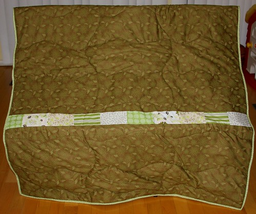 Line of squares - back of quilt