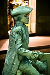 La Rambla Street Performer by Justin Korn