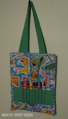 Coloring Book and Crayon Tote Bag Tutorial