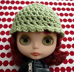 Eco Green Crochet Cap for Blythe