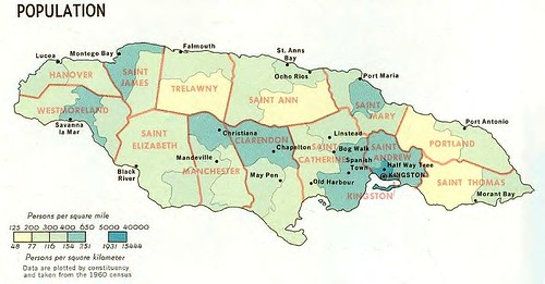 Jamaica Parish Map