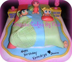 Couture Cakes by Vee) Tags: birthday pink blue girls green lamp cake ...
