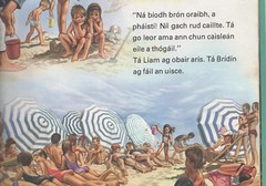 Typical Irish beach scene
