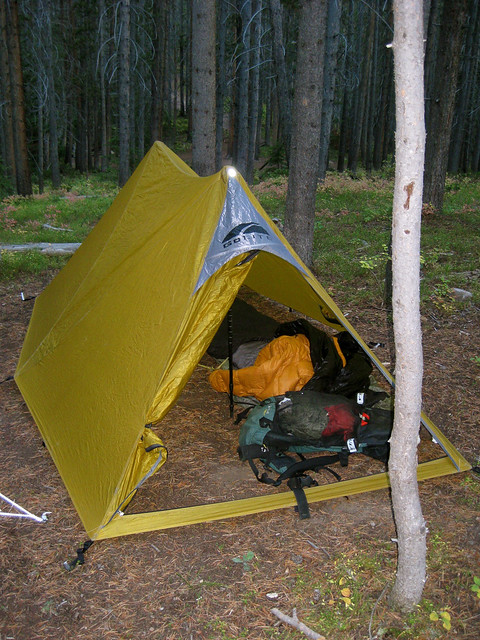 Having a floor-less shelter allows you to dig down into the snow. If the pack is deep enough you can dig down and then out under the walls to create a ... & Topic: Winter camping: Tent vs Shelter/tarp?