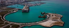 Museu de l'art Islmic 2.0 (delatoalla) Tags: blue sea azul mar blau doha qatar catar turquesa museumofislamicart delatoalla