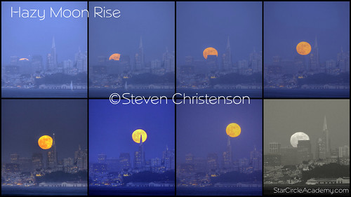 Rising Moon Collage