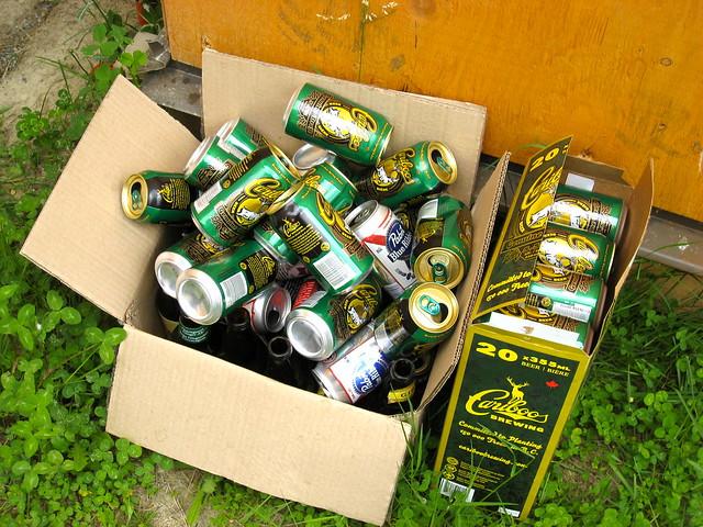 Empty Beer Pile