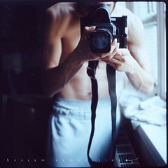 (Hessam Samavatian) Tags: wien light me self polaroid nour hasselblad503cx hessamsamavatian hessampolaroid