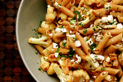(smitten) Tags: cooking pasta cauliflower penne wholewheatpasta alicewaters chezpanissevegetables