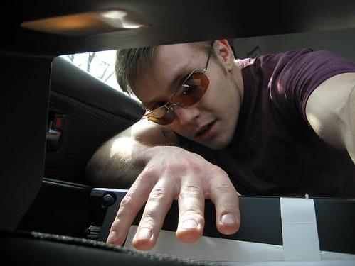 a spy camera in my glove compartment