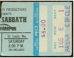 Black Sabbath 1978 Checkerdome Stub (gregg_koenig) Tags: black st vintage louis concert ticket 70s 1978 1970s stub sabbath checkerdome