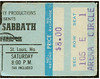 Black Sabbath 1978 Checkerdome Stub (gregg_koenig) Tags: black st vintage louis concert ticket 70s 1978 1970s stub sabbath checkerdome