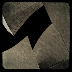 The balcony... (Julian E...) Tags: light urban bw abstract black texture architecture composition dark grey losangeles bravo balcony gehry soe beijos artisticexpression justimagine artlibre infinestyle goldenphotograph