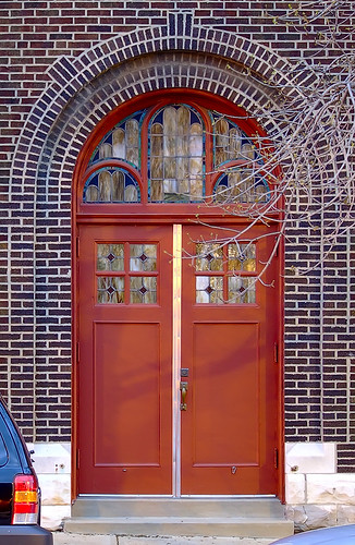 Saint Joseph Croatian Catholic Church, in Saint Louis, Missouri, USA - door