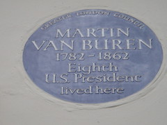 Photo of Martin Van Buren blue plaque