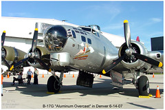 "B-17G ""Aluminum Overcast"" in Denver Colorado 6-13-07 through 6-18-07 (thegreatlandoni) Tags: world two usa history museum america plane vintage airplane photography centennial airport war colorado technology unitedstates aircraft aviation military sony wwii memories engine denver aeroplane airshow b17 weapon memory ww2 boeing mavica bomber amateur propeller prop machinegun flyin radial aluminumovercast worldwartwo aeronautical adobephotodeluxe 50cal b17g vintagetechnology wingsovertherockies omot landoni mvccd1000 thegreatlandoni jimlandon ourmemoriesourtimes radialpoweredaircraft"