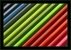 Rainbow (Vespaline) Tags: abstract macro colors pencils rainbow structure makro bunt regenbogen farben abstrakt buntstifte strukturen stuktur platinumphoto theperfectphotographer