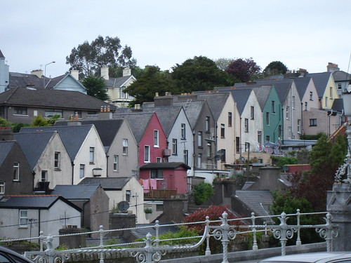 The domino-like portside townside of Cobh.