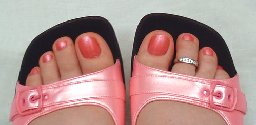Strawberry shortcake Toe Nails Art polish Design