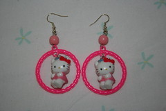 orecchini hello kitty cerchio rosa (sweethellokitty e i suoi bijoux) Tags: hello kitty bijoux orecchini