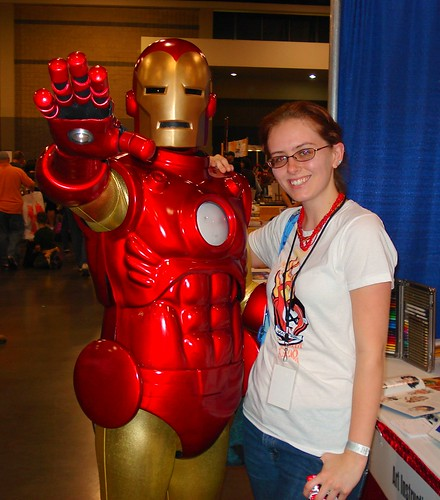Jennifer & Iron Man @ HeroesCon '08