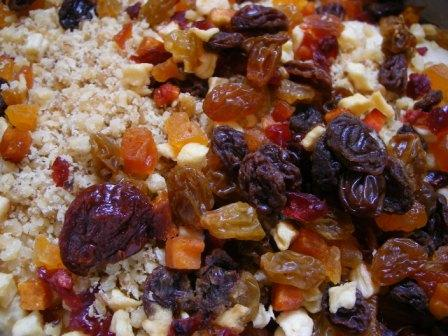 Dried Fruit and Chopped Walnuts for Tuscan Coffee Cake