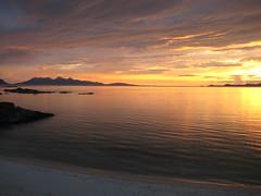 Sound of Arisaig sunset 7 (sunsnowguy) Tags: pink sunset sea summer sky cloud sun west beach water beautiful island islands golden coast scotland sand july scottish shore sound ripples isle tides rhum arisaig