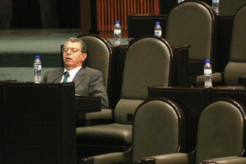 Políticos dormidos