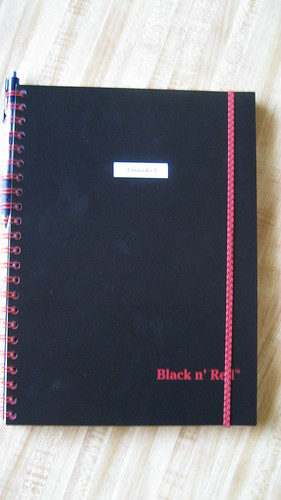 John Dickinson Blank n' Red Notebook
