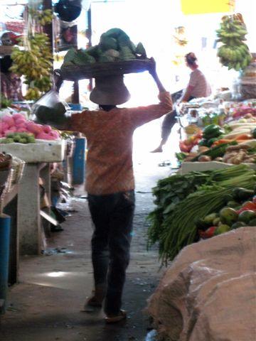 Cambodian market vendor