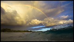 Rainbow Road (Karim Iliya Photography) Tags: ocean road blue sea sky cloud lake beach water colors rain river out for hawaii big rainbow sand surf fast wave tags maui drop drip bow shutter boogie splash ideas skim makena sploosh baord